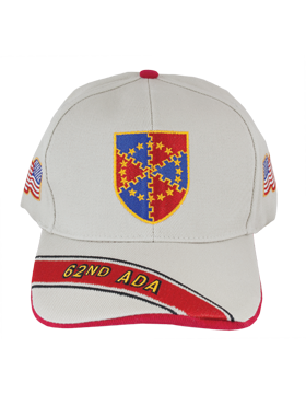 Cap (DC-ADA/DUI-0062A/S) Stone with 62 Air Defense Artillery Crest small