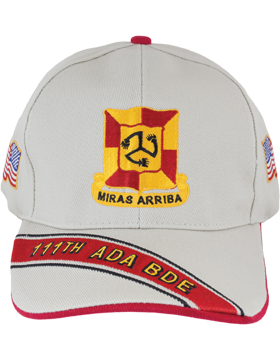 Cap (DC-ADA/DUI-0111A/S) Stone with 111 Air Defense Artillery Brigade Crest