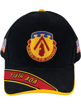 Cap (DC-ADA/DUI-0138A/B) Black with 138 Air Defense Artillery Crest