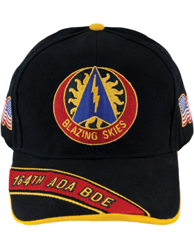 Cap (DC-ADA/DUI-0164A/B) Black with 164 Air Defense Artillery Brigade Crest