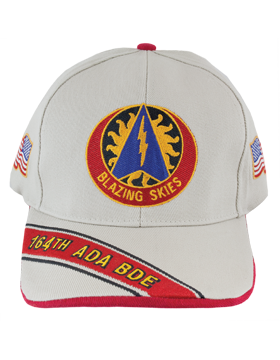 Cap (DC-ADA/DUI-0164A/S) Stone with 164 Air Defense Artillery Brigade Crest
