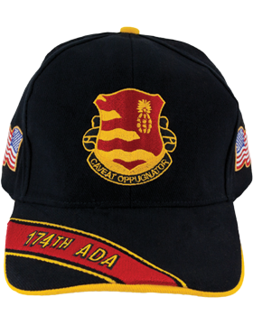 Cap (DC-ADA/DUI-0174A/B) Black with 174 Air Defense Artillery Crest