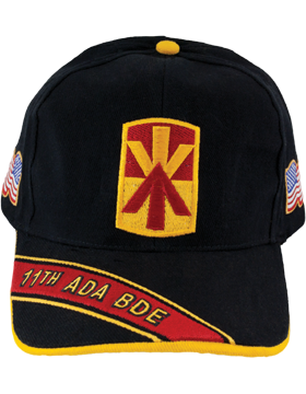 Cap (DC-ADA/P-0011A/B) Black with 11 Air Defense Artillery Patch
