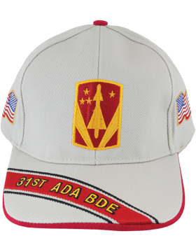 Cap (DC-ADA/P-0031A/S) Stone with 31 Air Defense Artillery Patch