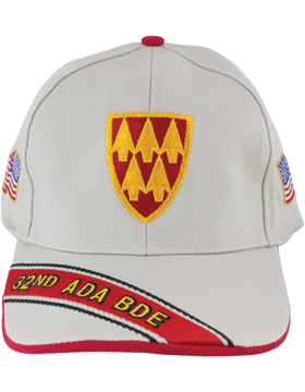 Cap (DC-ADA/P-0032A/S) Stone with 32 Air Defense Artillery Patch