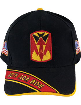 Cap (DC-ADA/P-0035A/B) Black with 35 Air Defense Artillery Patch