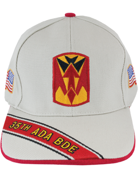 Cap (DC-ADA/P-0035A/S) Stone with 35 Air Defense Artillery Patch