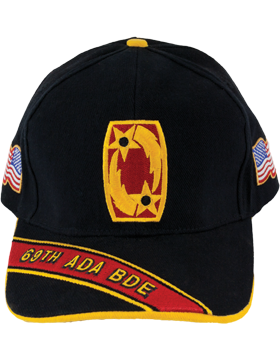 Cap (DC-ADA/P-0069A/B) Black with 69 Air Defense Artillery Patch