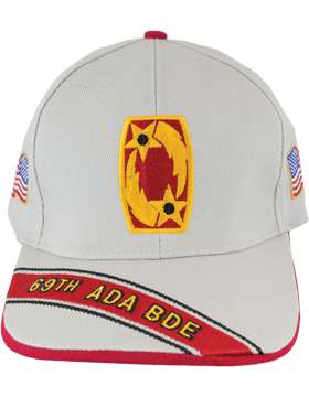 Cap (DC-ADA/P-0069A/S) Stone with 69 Air Defense Artillery Patch