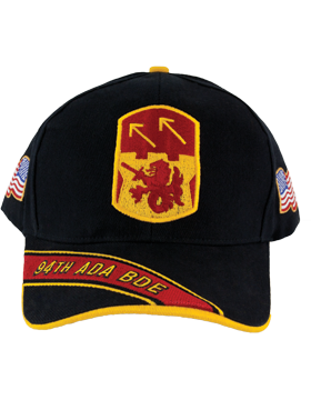 Cap (DC-ADA/P-0094A/B) Black with 94 Air Defense Artillery Patch