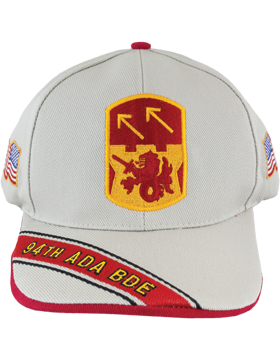 Cap (DC-ADA/P-0094A/S) Stone with 94 Air Defense Artillery Patch