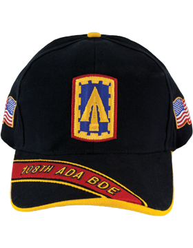 Cap (DC-ADA/P-0108A/B) Black with 108 Air Defense Artillery Patch