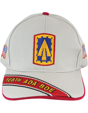 Cap (DC-ADA/P-0108A/S) Stone with 108 Air Defense Artillery Patch