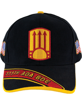 Cap (DC-ADA/P-0111A/B) Black with 111 Air Defense Artillery Patch