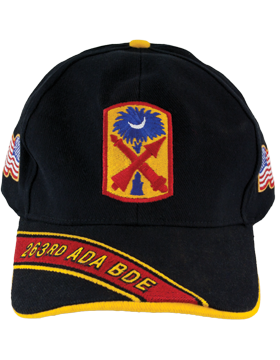 Cap (DC-ADA/P-0263A/B) Black with 263 Air Defense Artillery Patch