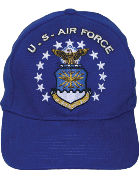 Cap Royal Blue with U.S. Air Force (3D) and Shield DC-AF/001A