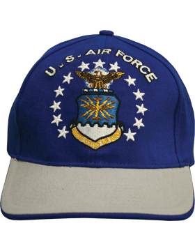 Cap Royal Blue and Gray with U.S. Air Force (3D) and Shield DC-AF/004A