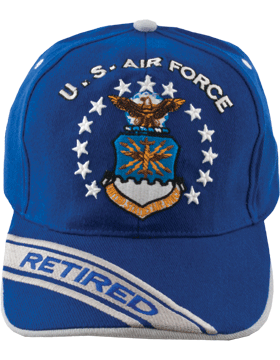 Cap Royal Blue and Gray w/ U.S. Air Force (3D) and Shield (Retired) DC-AF/005A