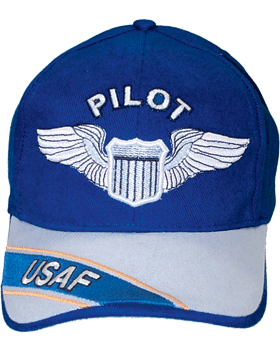 Cap Royal Blue and Gray with U.S. Air Force Pilot (3D) DC-AF/301A