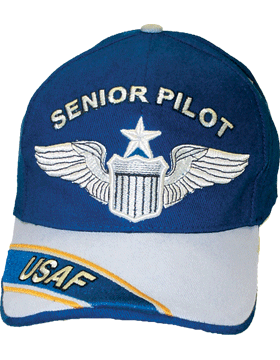 Cap Royal Blue and Gray with U.S. Air Force Senior Pilot (3D) DC-AF/302A