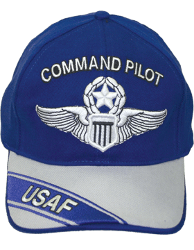 Cap Royal Blue and Gray with U.S. Air Force Command Pilot (3D) DC-AF/303A