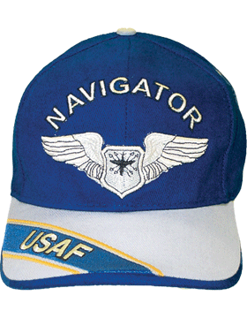 Cap Royal Blue and Gray with U.S. Air Force Navigator (3D) DC-AF/304A