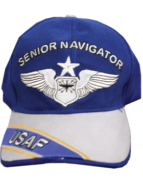 Cap Royal Blue and Gray with U.S. Air Force Senior Navigator (3D)DC-AF/305A