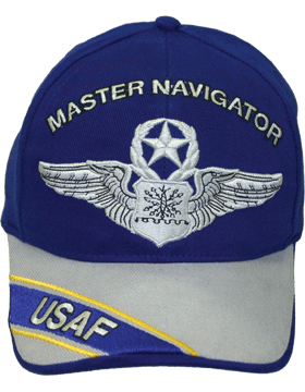 Cap Royal Blue and Gray with U.S. Air Force Master Navigator (3D) DC-AF/306A