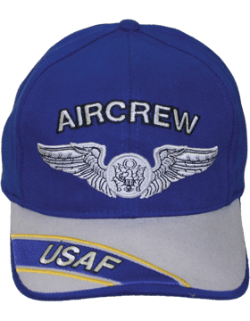 Cap Royal Blue and Gray with U.S. Air Force Aircrew (3D) DC-AF/307A