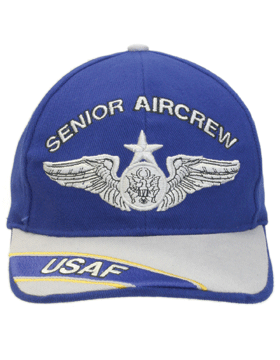 Cap Royal Blue and Gray with U.S. Air Force Senior Aircrew (3D) DC-AF/308A