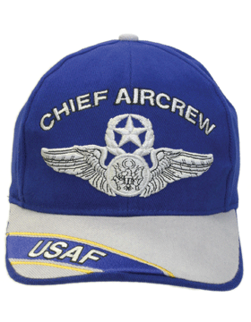 Cap Royal Blue and Gray with U.S. Air Force Chief Aircrew (3D) DC-AF/309A