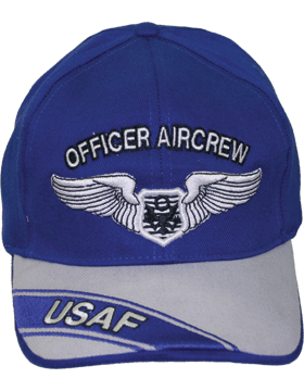 Cap Royal Blue and Gray with U.S. Air Force Officer Aircrew (3D) DC-AF/310A
