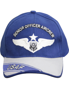 Cap Royal Blue and Gray with USAF Officer Senior Aircrew (3D) DC-AF/311A