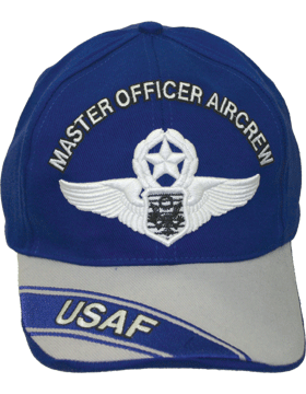Cap Royal Blue and Gray with USAF Officer Master Aircrew (3D) DC-AF/312A