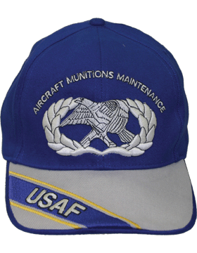 Cap Royal Blue and Gray with  USAF Aircraft Munitions Maintenance (3D) DC-AF/323