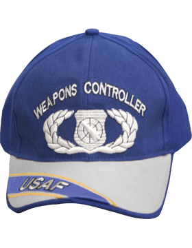Cap Royal Blue and Gray with  U.S. Air Force Weapons Controller (3D) DC-AF/335A