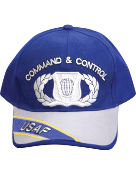 Cap Royal Blue and Gray with  U.S. Air Force Command and Control (3D) DC-AF/389A