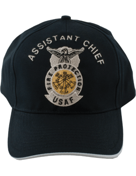 Cap Black and Gray with 3 Bugles Crossed Metallic DC-AF/504