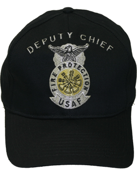 Cap Black and Gray with 4 Bugles Crossed Metallic DC-AF/505A