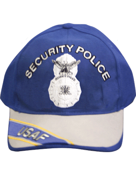 Cap Royal Blue and Gray with Security Police Badge (3D) DC-AF/800