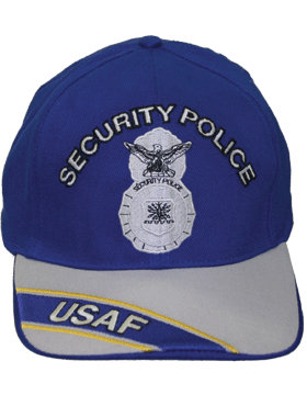 Cap Royal and Gray with Security Police Badge (3D) with Lettering DC-AF/801