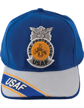 Cap Royal Blue and Gray with Fire Protection Badge (3D) DC-AF/809