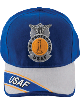 Cap Royal Blue and Gray with One Bugle Badge (3D) Crossed DC-AF/810