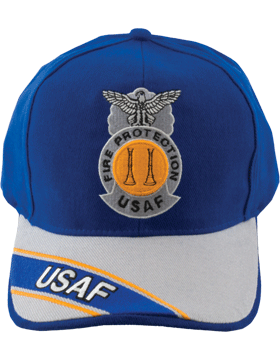 Cap Royal Blue and Gray with Two Bugles Badge Parallel (3D) DC-AF/811