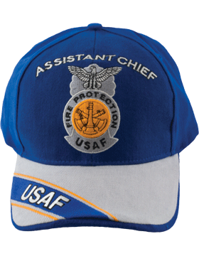 Cap Royal and Gray with Three Bugles Badge (3D) with Lettering DC-AF/813A