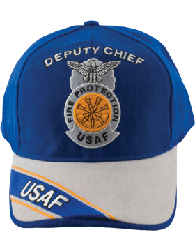 Cap Royal and Gray with Four Bugles Badge (3D) with Lettering DC-AF/814A