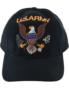 Cap (DC-AR-001) Black with U.S. ARMY (3D) and Eagle