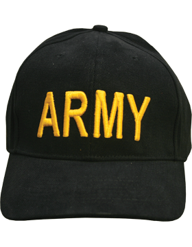 Cap (DC-AR/003) Black with Army (3D)