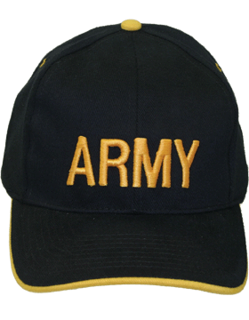 Cap (DC-AR/006) Black and Gold with Army (3D)
