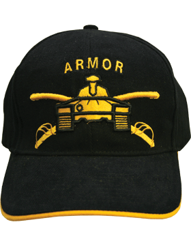 Cap (DC-AR/203) Black with Armor Branch Of Service (3D)
